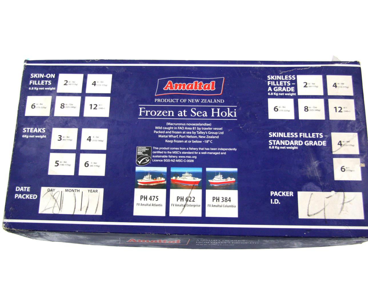 Hoki Fillets Skinless 6.8kg Ctn