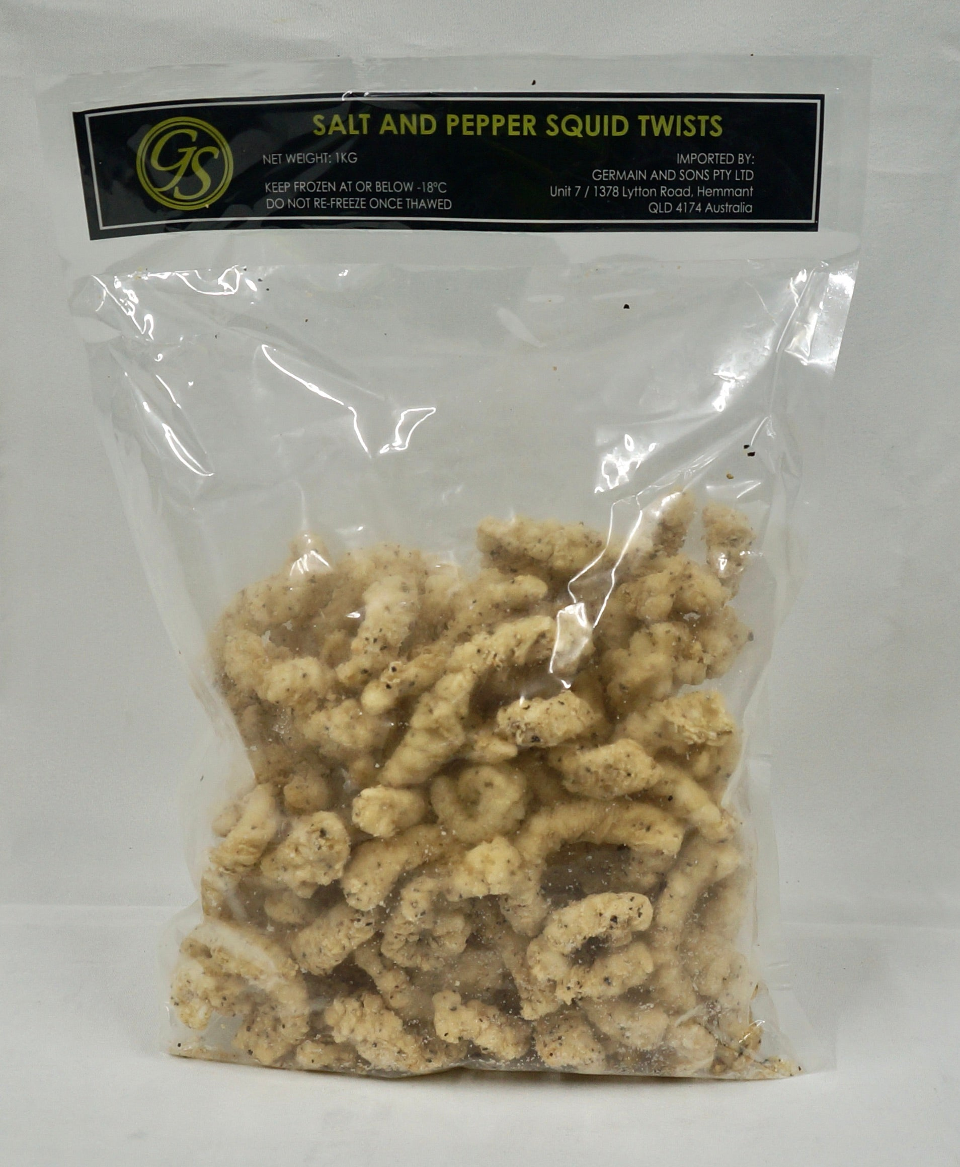 Salt and Pepper Calamari Twists 1kg Bag