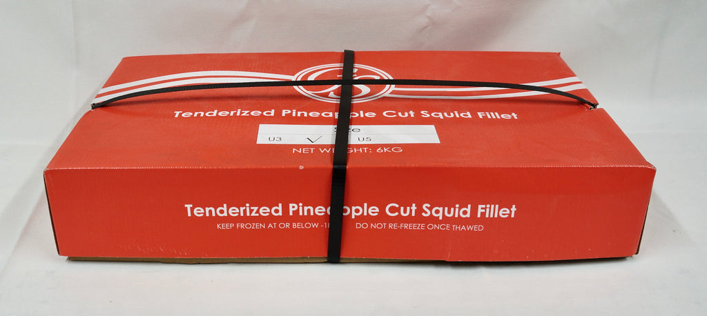 Pineapple Cut Squid Fillets 5kg Ctn
