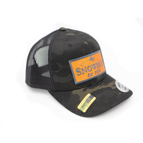 Multicam Black Fly Badge Retro Trucker Hat