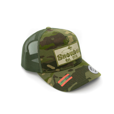 Multicam Green Fly Badge Retro Trucker Hat