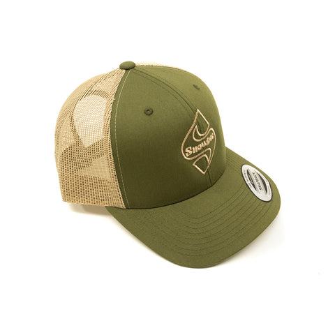 Khaki/Moss Classic S-Badge Retro Trucker Hat