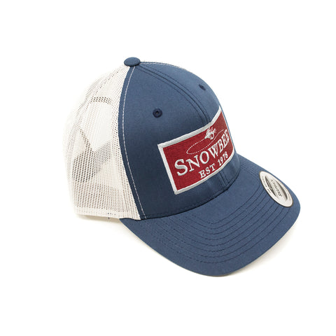 Silver/Blue Fly Badge Retro Trucker Hat