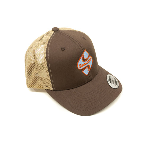 Khaki/Brown Classic S-Badge Retro Trucker Hat