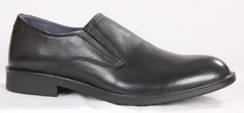 Leather shoes without laces