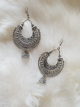 Silver Hoop with Jhumka