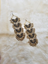 Gold Chandbali Earrings with Gold Beads