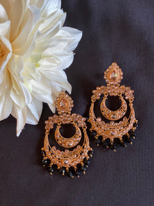 Chandelier Earrings - Black