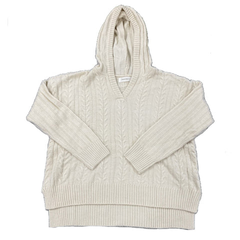 Cable knit hoodie 04
