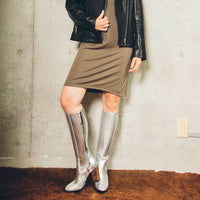 UNITED NUDE  Tetra Knee Boot Silver
