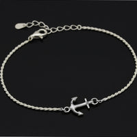 SYMPATHY OF SOUL Small Anchor Chain Bracelet - Silver