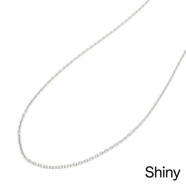 SYMPATHY OF SOUL Silver Square Cable Chain 1.6mm-shiny 50cm