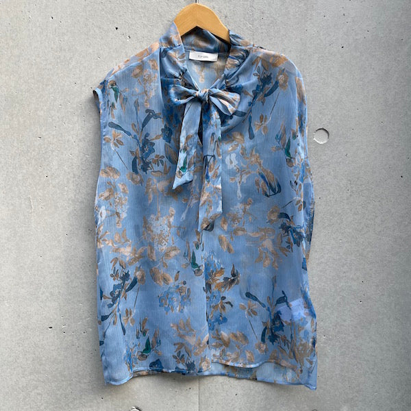FLY GIRL Flower print see-through shirt