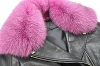 R.(アールドット) Riders Double Zip with Pink Fur