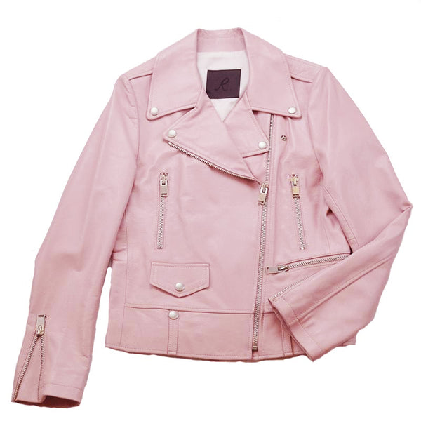 R.(アールドット) Riders Jacket Double PINK