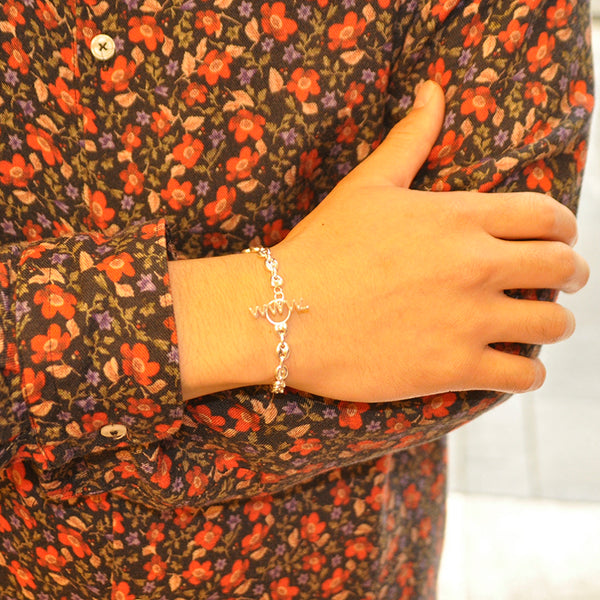 WWW.WILL SHOTT Single Link Bracelet [Puff Marina]