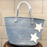 meong blue 12inch Sisal bag double star