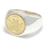 SYMPATHY OF SOUL Classic Coin Ring / Good Luck - Silver×K18Yellow Gold
