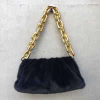 eco fur big chain bag