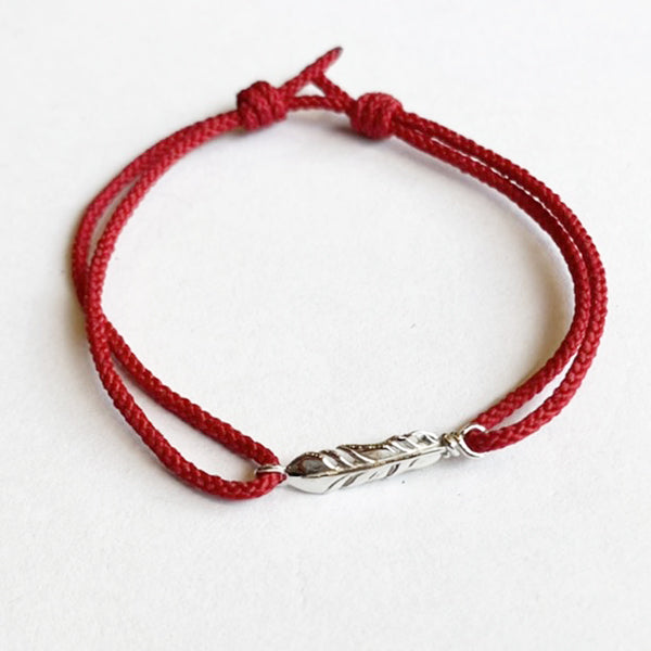 【OUTLET】50%OFF!! SYMPATHY OF SOUL Mini Feather Cord Bracelet & Anklet