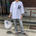 R BIG LOGO T-shirt WHITE