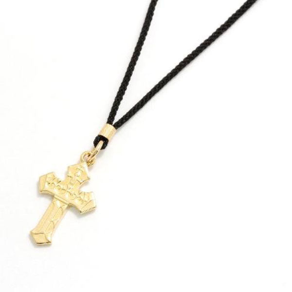SYMPATHY OF SOUL 【予約】1940's Sixpence Cross Cord Necklace 2019X'mas限定
