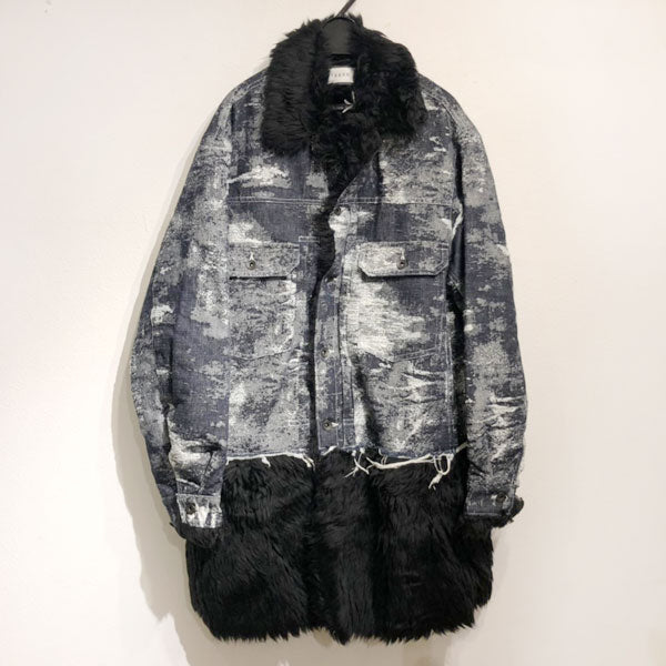 TAAKK(ターク)  19AW Denim coat BLACK