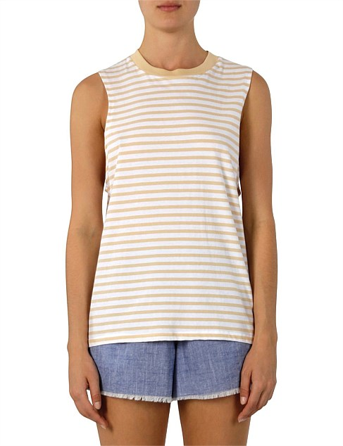Carmen Washed Stripe Tank Nude Lucy