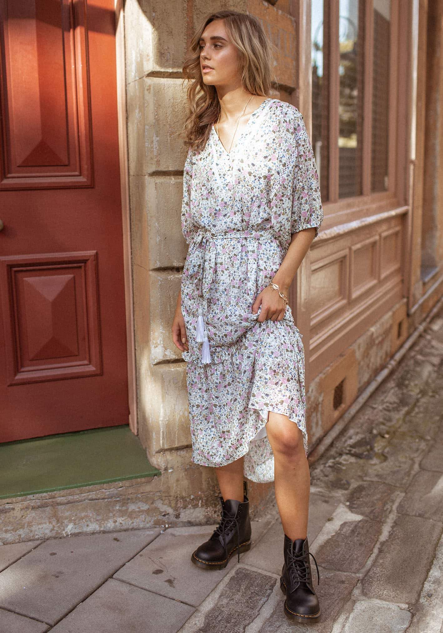 Flower Child Ever Long Dress by Three Of Something