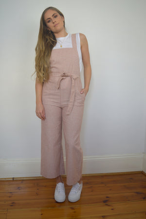 Medina Jumpsuit - red/white stripe
