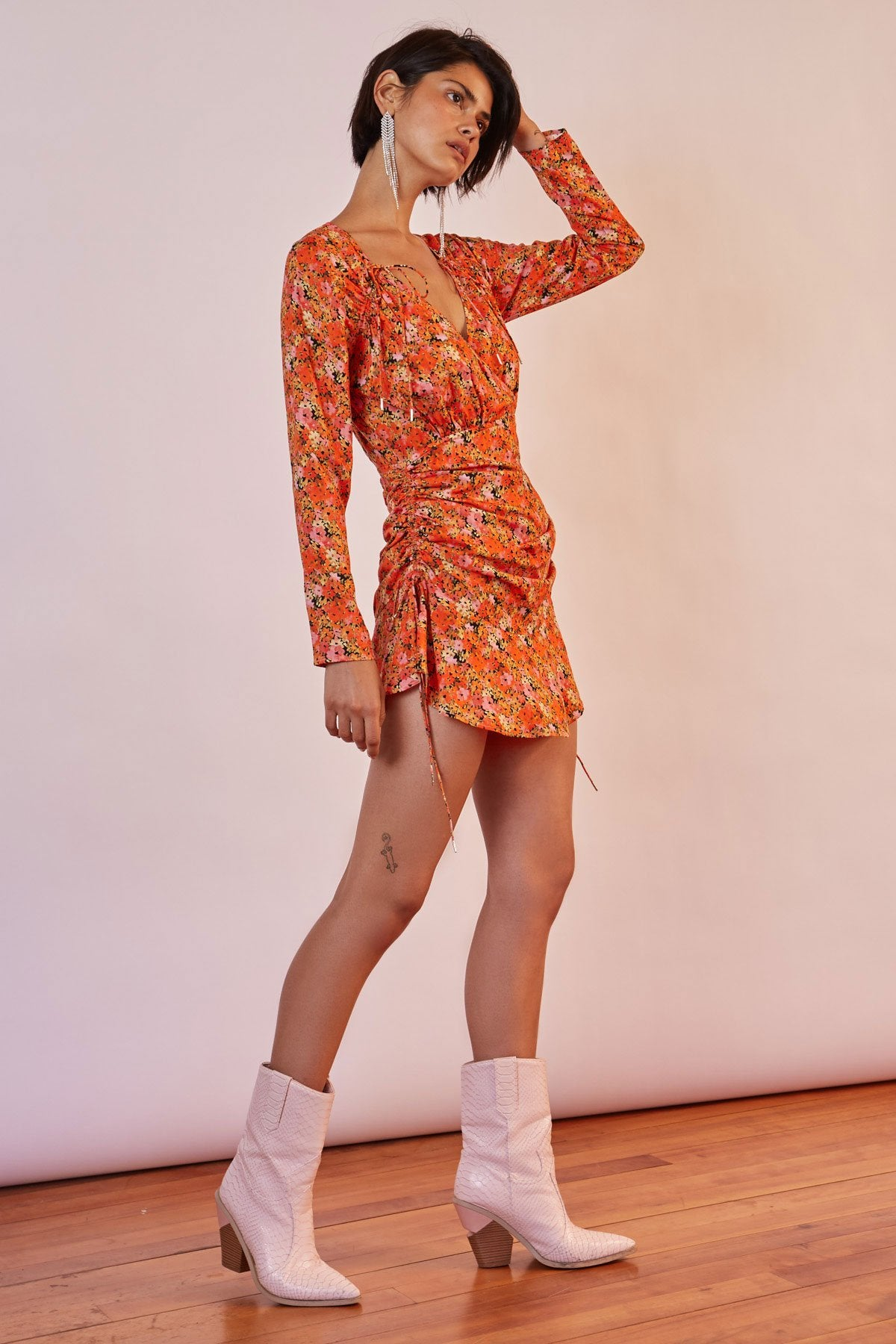 Finders Keepers Bloom LS Mini Dress - Garden Party