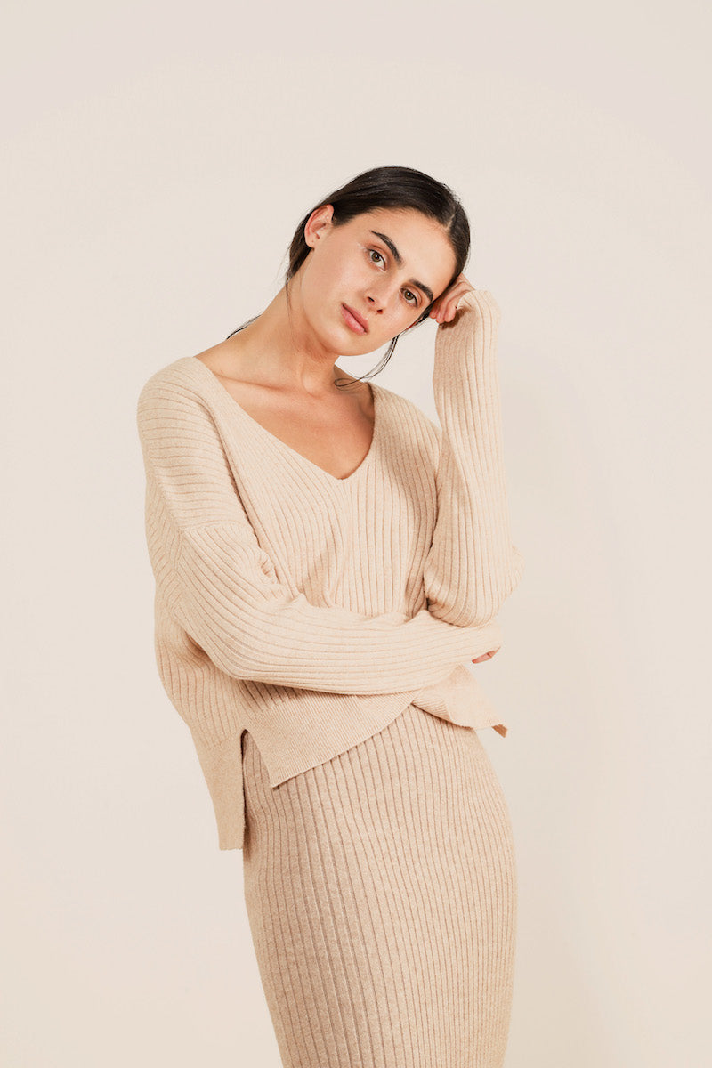 Dylan Knit Top Nude Lucy