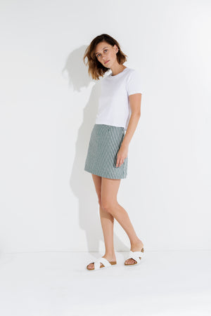 Malloy Skirt Nude Lucy the Label
