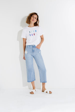 Slow Down Tee Nude Lucy The Label