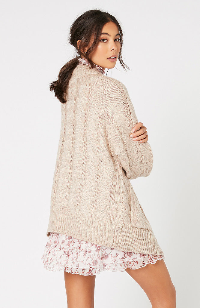 Daphne Cable Knit Cardigan by MINKPINK