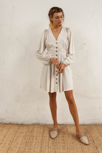 Isla Linen Blend Dress by Bird and Kite