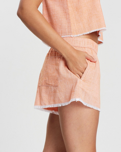 Electra Textured Short in Tangerine by Nude Lucy