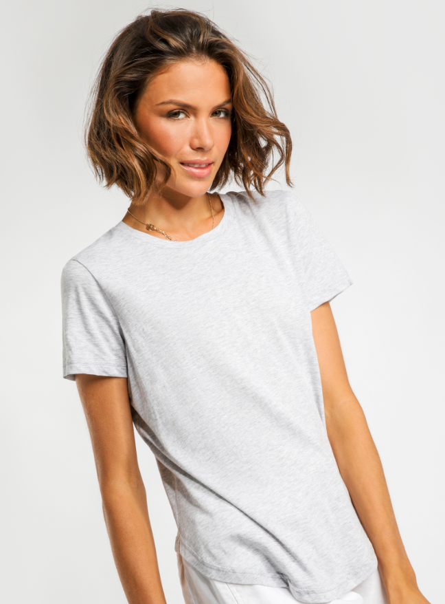 collins button detail tee Nude Lucy