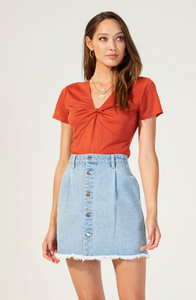Fraya Button Front Skirt by MINKPINK