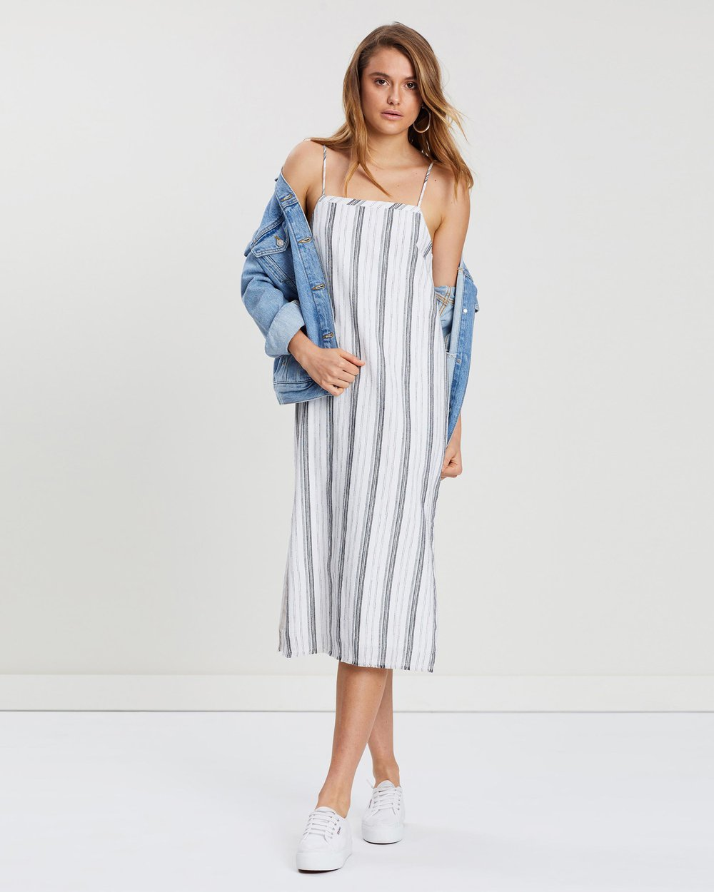 Brooke Linen Stripe Dress by Nude Lucy