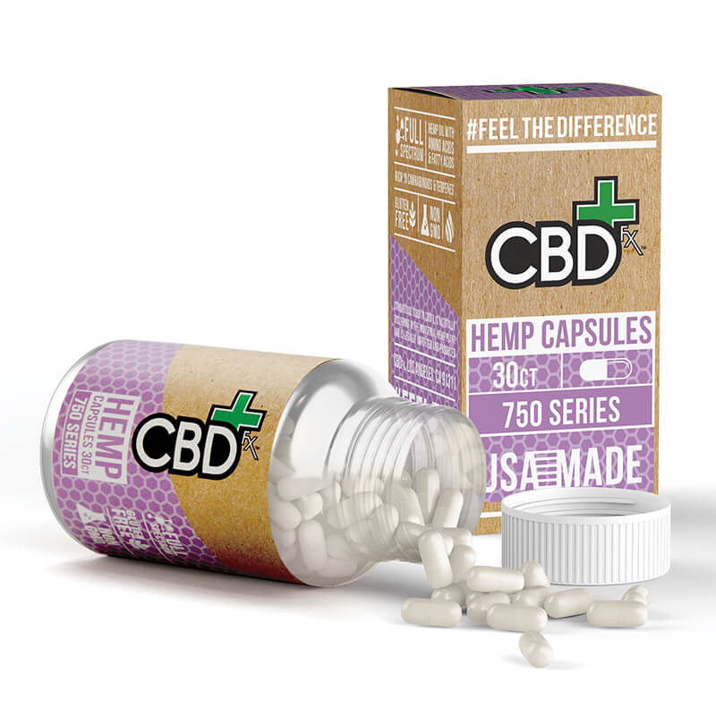 CBDfx Capsules 25mg - 30ct Bottle