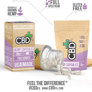 CBD Capsules 8ct Pouch - 200mg