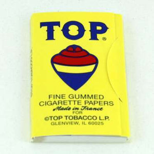 TOP® ROLLING PAPERS - 70mm SINGLE WIDE FINE GUMMED CIGARETTE PAPERS