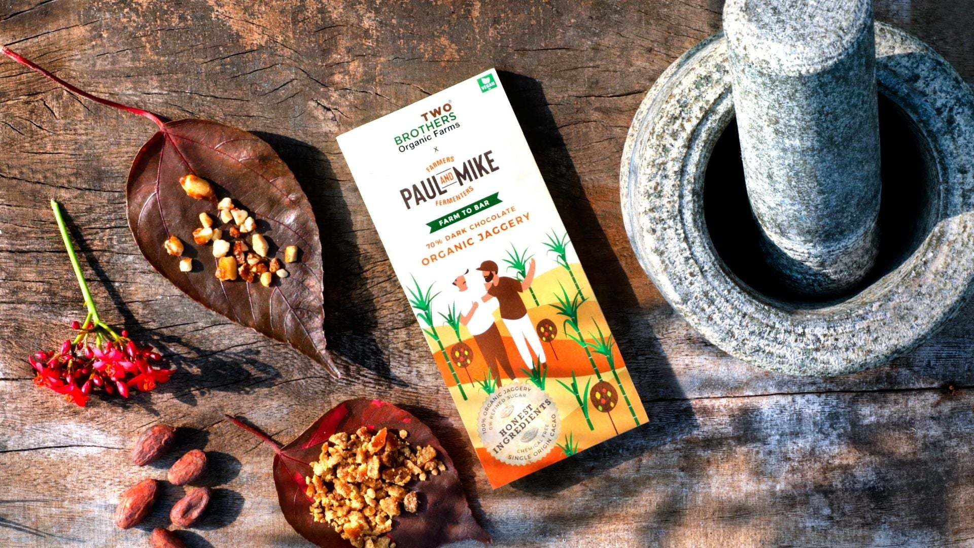 Fine Flavor Chocolate Using Single Origin Organic Cacao Beans and Handmade Jaggery - Proudly Made In India By Farmers!