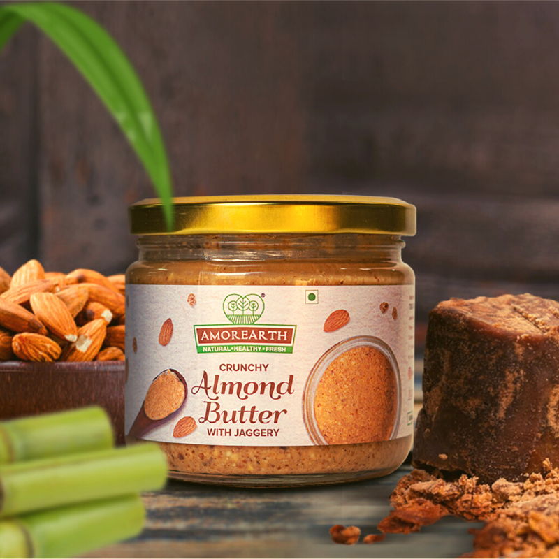 Stoneground Butter Using Indigenous Badaam - A Health Spin On Your Breakfast, Mid-meal Snacks and Desserts!