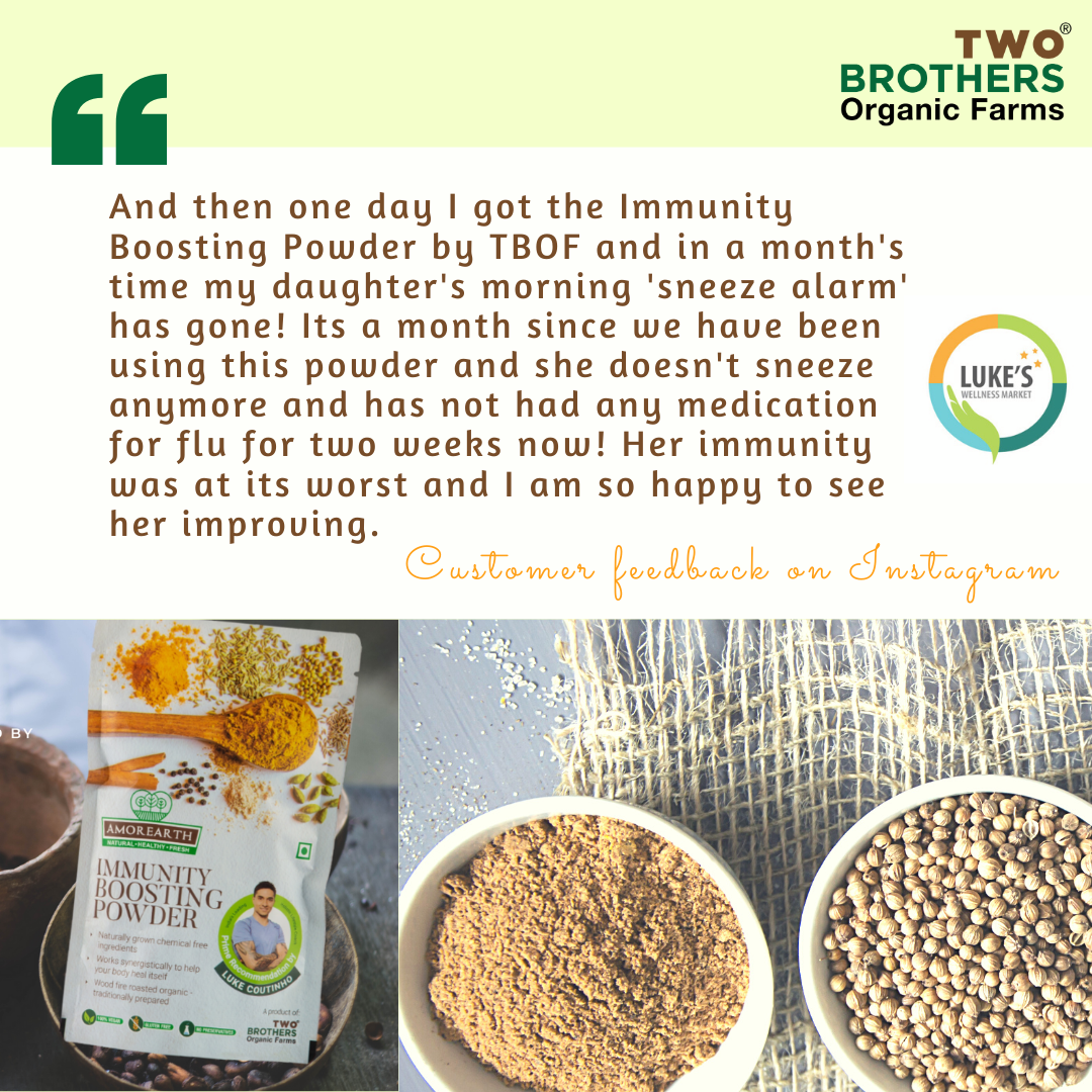 Two Brothers Organic farms, Immunity Boosting Powder, Luke Coutinho, Shanthini Rajkumar, Immunity boosting foods, Immunity foods, Increase Immunity, Foods for immunity, Spices for immunity, Immunity increasing spices, Haldi, Turmeric, Ceylon cinnamon, Kali Mirch, Black Pepper, Immunity Boosting Mix