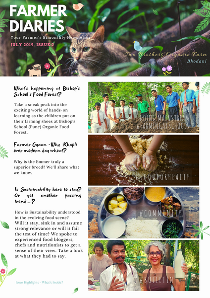 Farmer Diaries by TBOF, July 2019, Farmer Magazine, Farmer Publication, Two Brothers Organic Farms