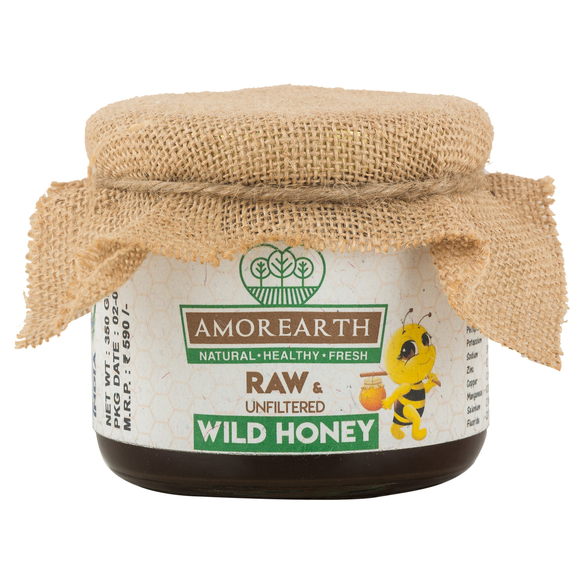 Honey - Raw, Unfiltered, Unpasteurised. (350 gms)