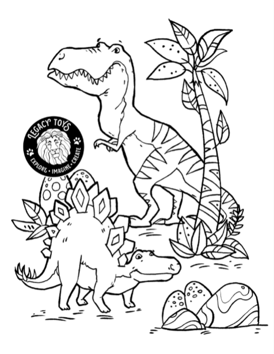 Some T-rrific new coloring sheets for your little dino's