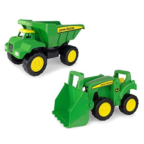 John Deere Sandbox Vehicle 2 Pack With Loader And Dump Truck